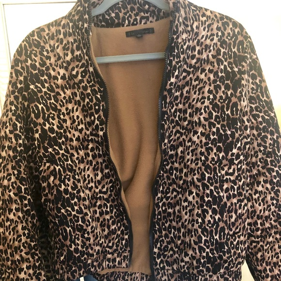 Lucca Couture Jackets & Blazers - Leopard Bomber Lined Jacket